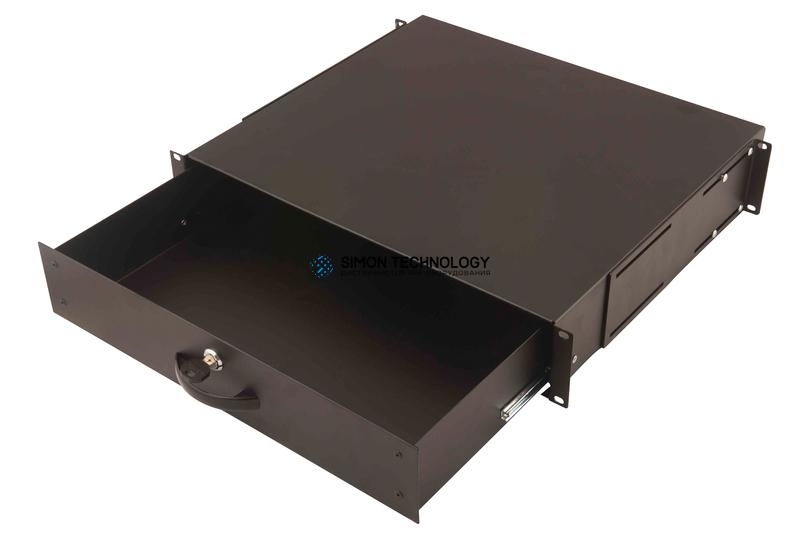 Digitus 2U lockable drawer Black RAL 9005 (DN-19 KEY-2U-SW)