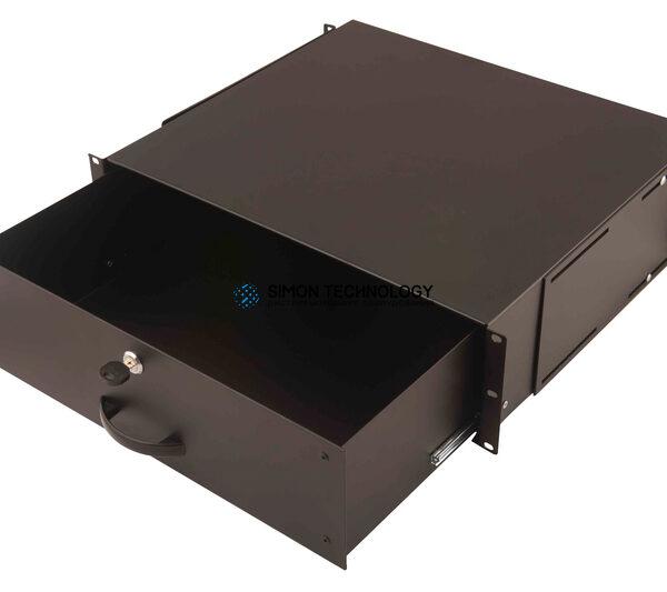 Digitus 3U Lockable Drawer Black RAL 9005 (DN-19 KEY-3U-SW)