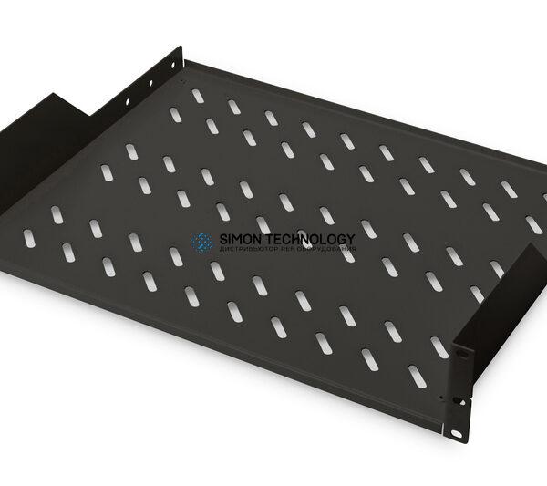 Digitus 2U rack mount fixed shelf vented. back (RAL 9005). (DN-19 TRAY-2-SW)
