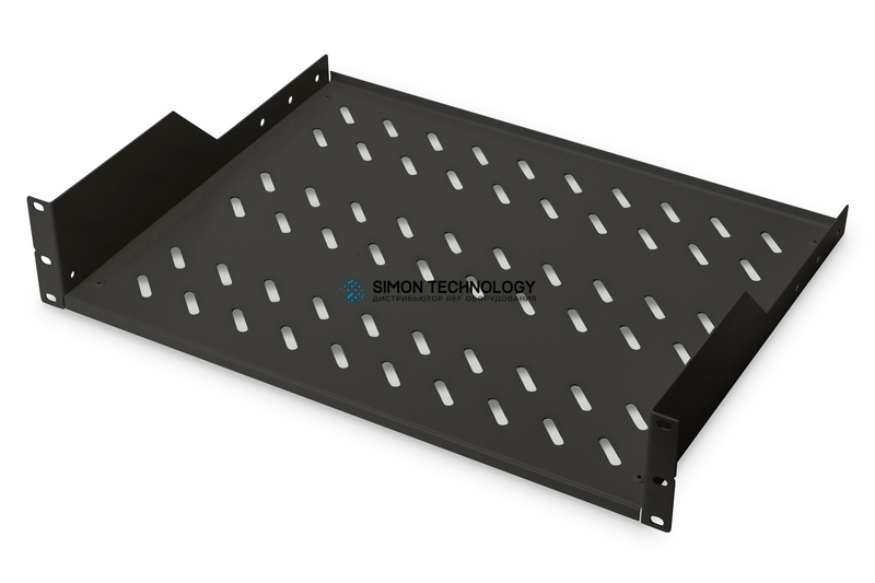Digitus 2U rack mount fixed shelf vented. back (RAL 9005). (DN-19 TRAY-2-SW)