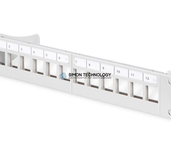 "Digitus 10"" Modular PatchPanel. 12 Port. STP. Grey (DN-91419)"