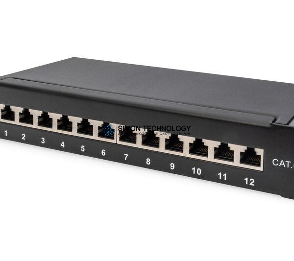 """Digitus 10"""" PatchPanel. Cat6a. 12 Port. STP. Black (DN-91612S-EA)"""