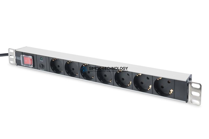 Распределитель питания Digitus 1U Aluminum PDU. rackmountable 16A. 4000W. 250VAC (DN-95403)