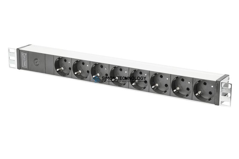 Распределитель питания Digitus 1U Aluminium PDU. Rackmountable 10A Plug. 250VAC 5 (DN-95410)