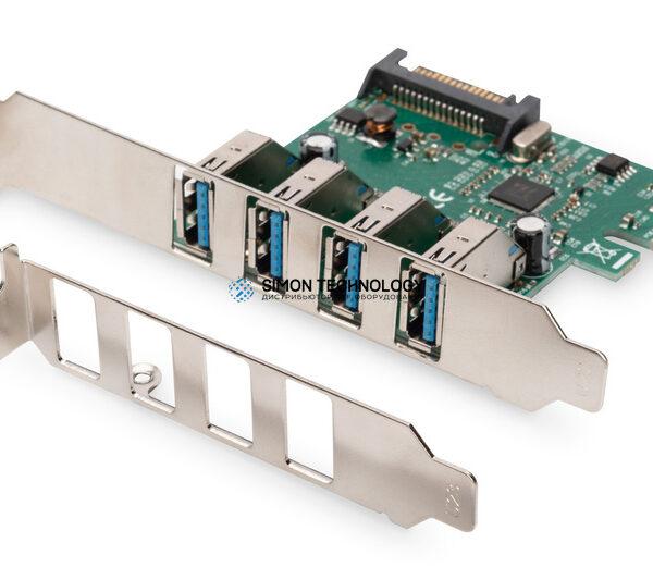 Контроллер Digitus 4-Port USB 3.0 PCIe Add-on Card (DS-30221-1)