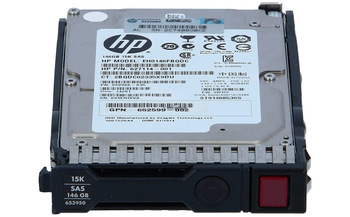 Жесткий диск HPE 146GB 15K 6G SFF SAS - Festplatte - Serial Attached SCSI (EH0146FBQDC)