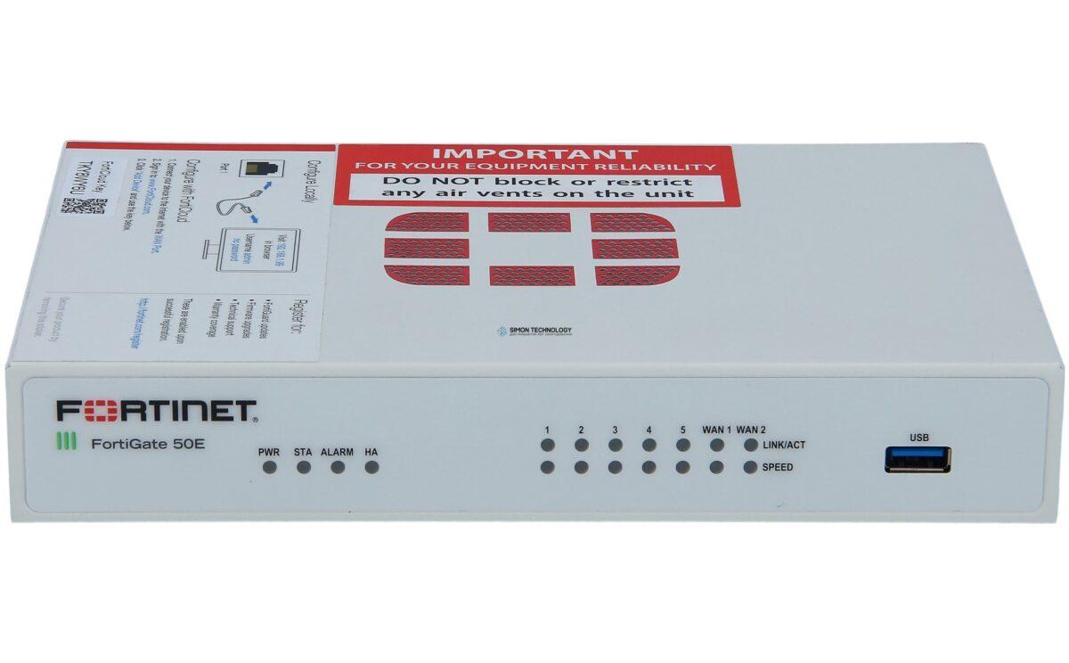 Firewall Fortinet FortiGate 50E hardware firewall 2500 Mbit/s REF (FG50-E)