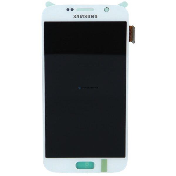 Samsung Sam g Front LCD Asm White SM-G920 Galaxy S6 (GH97-17260B)