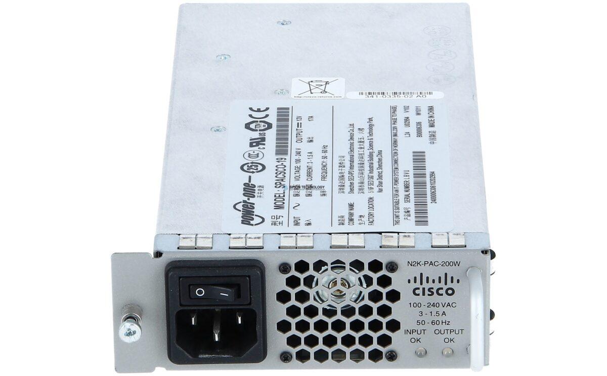 Блок питания Cisco Nexus 2000 FEX 1GE 200W Power supply 200W Netzteil (N2K-PAC-200W=)