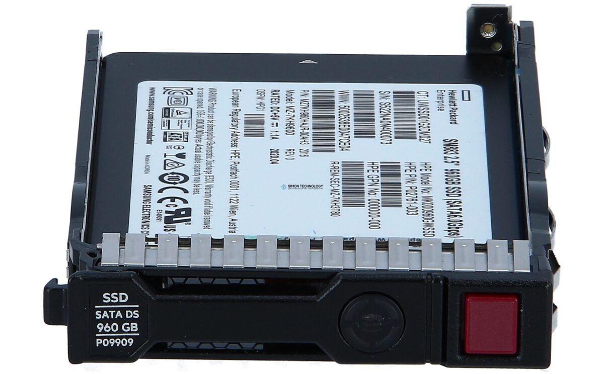 "SSD HPE Enterprise - Mixed Use - 960 GB SSD - Hot-Swap - 2.5"" SFF (6.4 cm SFF) (P09716-B21)"