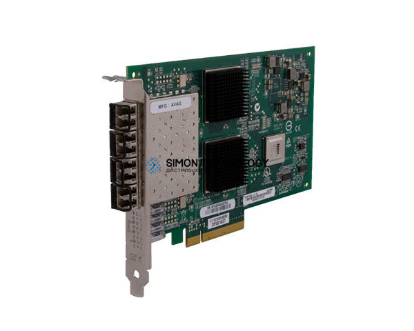 Контроллер HP StoreFabric 84Q 4-port 8Gb Fibre Channel Host Bus Adapter (P9D91A)