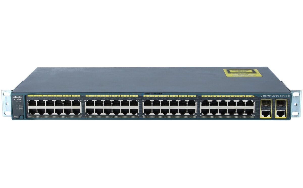 Коммутатор Cisco Catalyst 2960 Plus 48 10/100 + 2 T/SFP LAN Lite (WS-C2960+48TC-S)